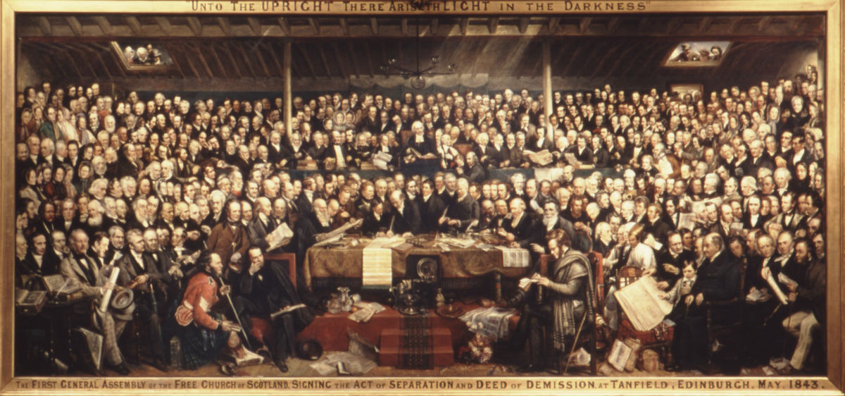 D. O. Hill: The Disruption, by permission of the Free Church of Scotland